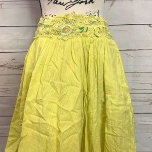 3 for $33 Anthropologie Floreat yellow skirt